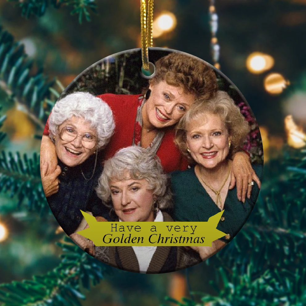 Golden girls christmas ornament 1