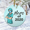 Hero Of 2020 Nurse Wearing Mask Christmas Ornamentmk.png