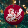Santa With Mask Christmas Ornamentmk.png