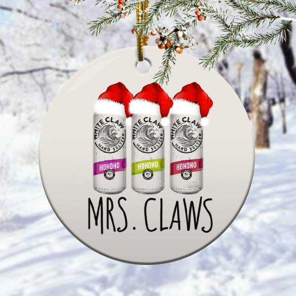 White Claw Mrs Claws Christmas Ornamentmk.png