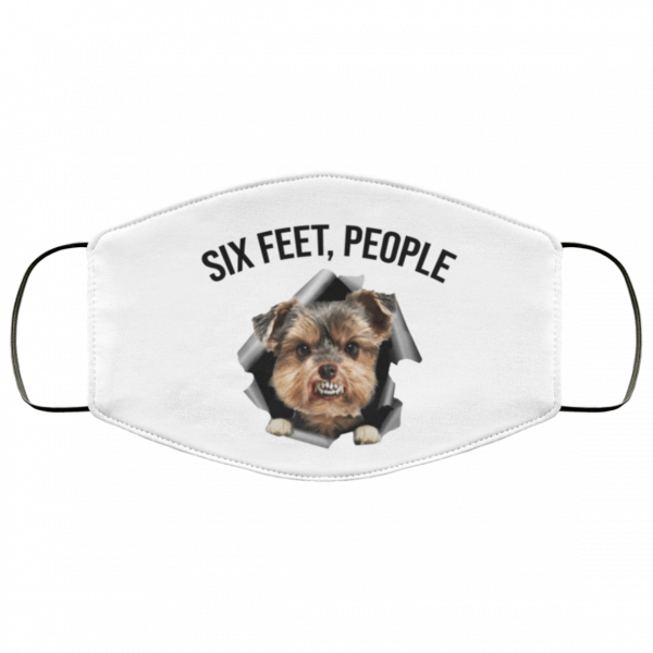 Yorkshire Terrier six feet people Face Mask