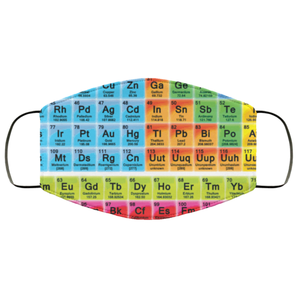 The periodic table face mask